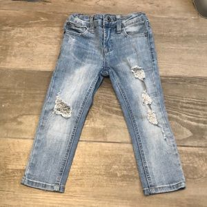 Toddler ripped up skinny jeans